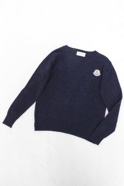 モンクレール [ MONCLER ] カシミヤ混 セーター ネイビー 紺色 長袖 SIZE[116cm 6A] キッズ 子供用 男の子 トップス