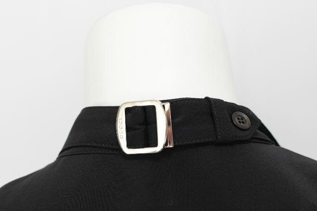 グッチ [ GUCCI ] スタンドカラー ベルト ブラウス ブラック 黒 長袖 SIZE[38] レディース トップス シャツ