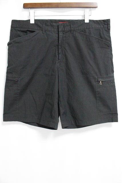 プラダスポーツ [ PRADA ] ロゴ ストレッチ ハーフパンツ ブラック 黒 SIZE[54] メンズ プラダ ショートパンツ 短パン