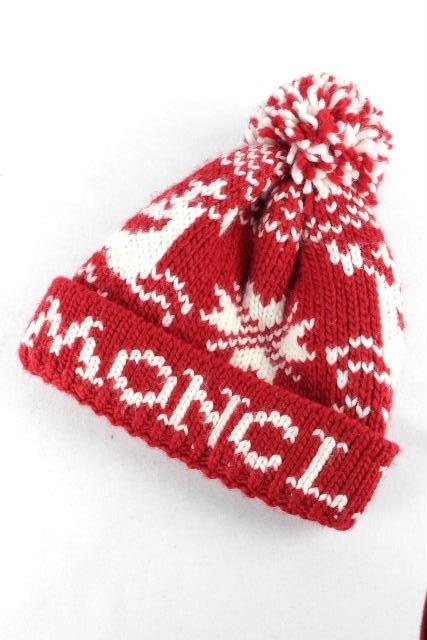 モンクレール [ MONCLER ] ニットキャップ レッド 赤 レディース ニット帽 帽子