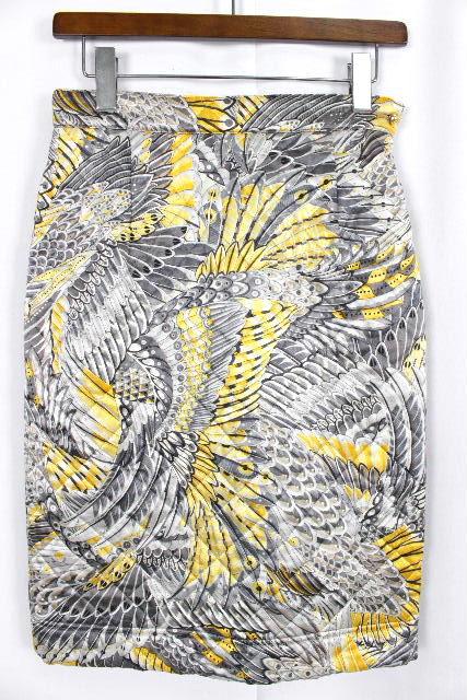 フェラガモ [ Ferragamo ] 柄物 キルティング 中綿 ダウン スカート SIZE[42] レディース ボトムス タイトスカート