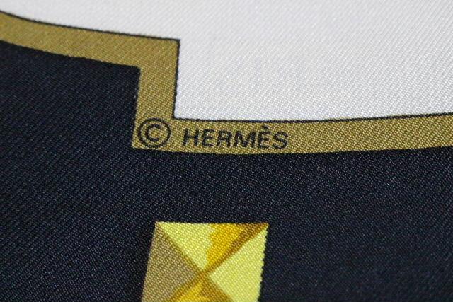 エルメス [ HERMES ] カレ 90 LES CLES 鍵柄 スカーフ ブラック 黒