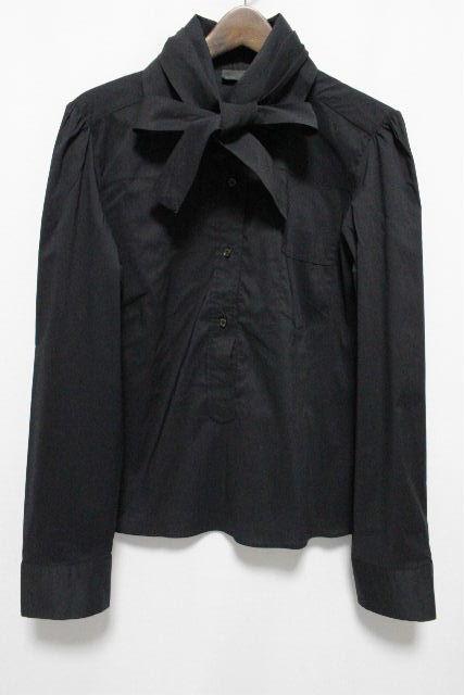 フェンディ [ FENDI ] ボウタイリボン プルオーバー ブラウス ブラック SIZE[44] レディース トップス シャツ ボウタイ 長袖