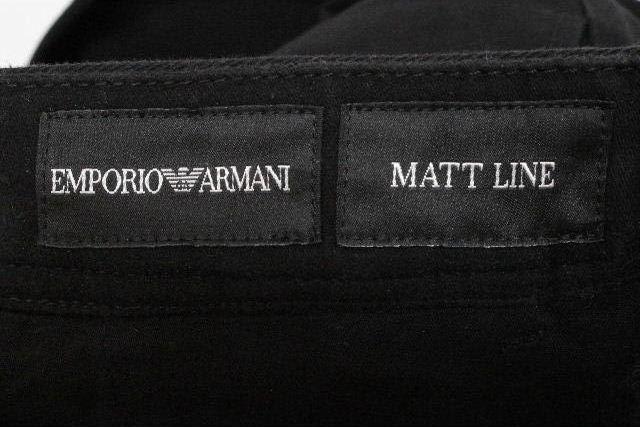 エンポリオアルマーニ [ ARMANI ] カジュアル チノ パンツ ブラック 黒 MATT LINE SIZE[44] メンズ アルマーニ ボトムス