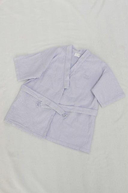 エルメス [ HERMES ] 甚平 じんべえ ブルー SIZE[2] キッズ 子供用 男の子 バスローブ パジャマ ゆかた ユカタ 浴衣