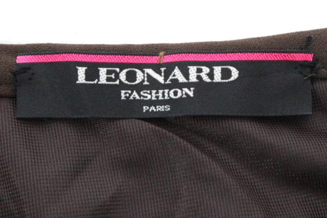 レオナール [ LEOMARD ] ロゴ ロングスカート ブラウン 茶色 SIZE[64] レディース タイトスカート