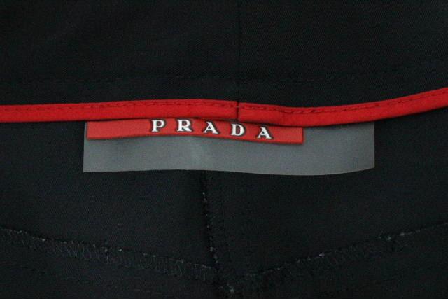 プラダスポーツ [ PRADA ] ナイロン ストレッチ カジュアルパンツ ブラック SIZE[38] レディース プラダ ボトムス