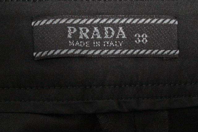 プラダ [ PRADA ] フレアー ストレッチ キュロットパンツ ブラック 黒 SIZE[38] レディース ショートパンツ パンツ