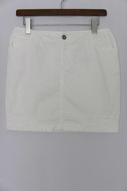 ルイヴィトン [ LOUISVUITTON ] モノグラム柄 ミニスカート ホワイト 白 SIZE[38] レディース ボトムス 台形スカート ヴィトン ビトン