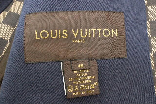 ルイヴィトン [ LOUISVUITTON ] ダミエ フード ライナー トレンチコート SIZE[46] メンズ アウター コート ヴィトン ビトン