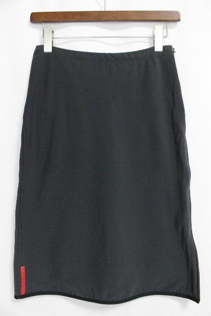プラダスポーツ [ PRADA ] ロゴ ストレッチ スカートブラック 黒 SIZE[XS] レディース プラダ ボトムス