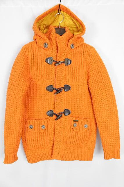 バーク [ Bark ] 裏地付 ニット ダッフル コート オレンジ SIZE[XS] メンズ アウター ジャケット フード パーカー