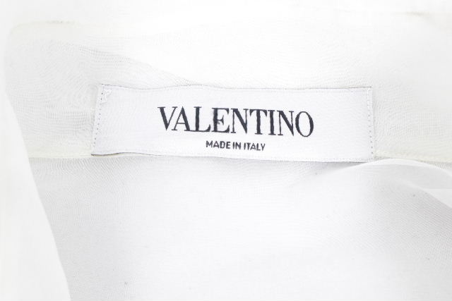 ヴァレンティノ [ VALENTINO ] ファーストライン リボン ロング ブラウス ホワイト 長袖 レディース トップス シャツ