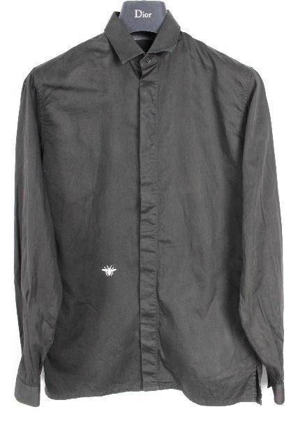 ディオールオム[Dior Homme] BEE シャツ ブラック 黒 長袖 SIZE[37] メンズ ディオール トップス 蜂