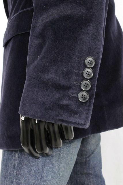 ドルチェ&ガッバーナ[DOLCE&GABBANA] ベロア テーラード ジャケット ネイビー 紺色 SIZE[52] メンズ ドルガバ トップス アウター