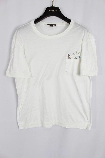 ルイヴィトン [ LOUISVUITTON ] モノグラム ポケット Tシャツ ホワイト 白 半袖 SIZE[XL] メンズ トップス ヴィトン ビトン カットソー