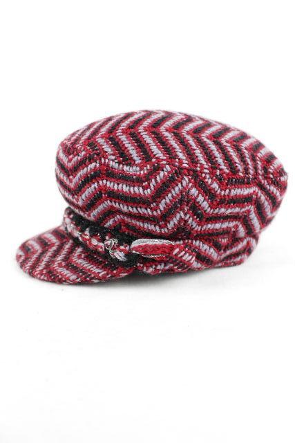 シャネル [ CHANEL ] 18AW セーラー キャップ ウール レッド 赤 SIZE[S] レディース キャスケット 帽子 ハット