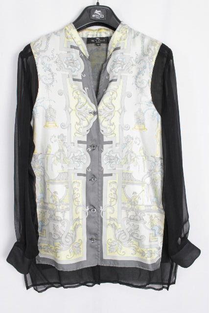 エトロ [ ETRO ] シルク スカーフ プルオーバー ブラウス SIZE[42] レディース トップス シャツ 長袖