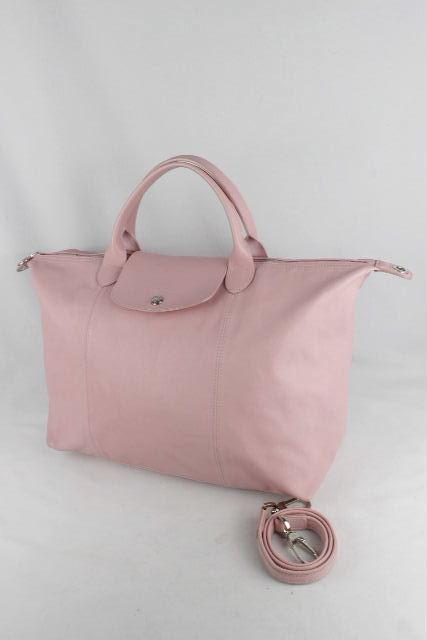 ロンシャン[ LONGCHAMP ] オールレザー プリアージュ ピンク ショルダーストラップ付 ハンドバッグ トートバッグ