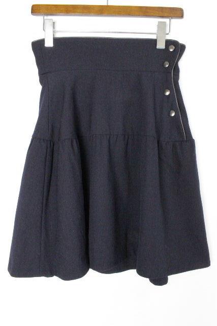 マルニ[MARNI] ウール フレアースカート ネイビー 紺色 SIZE[38] レディース ボトムス スカート