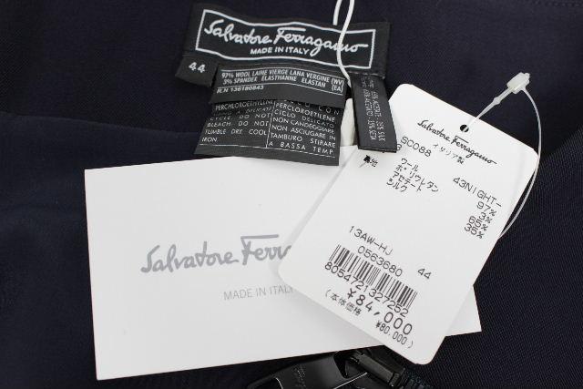 フェラガモ[Ferragamo] ★定価84000円★ フレアースカート ネイビー SIZE[44] レディース ボトムス Aラインスカート