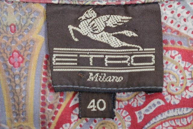 エトロ [ ETRO ] ペイズリー柄 シャツ ワンピース レッド SIZE[40] レディース トップス ワンピ チュニック