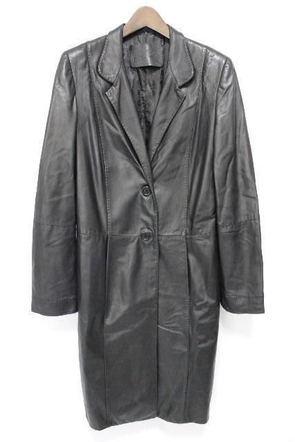 ロエベ [ LOEWE ] ラムレザー コート ブラック 黒 SIZE[40] レディース アウター ロングジャケット