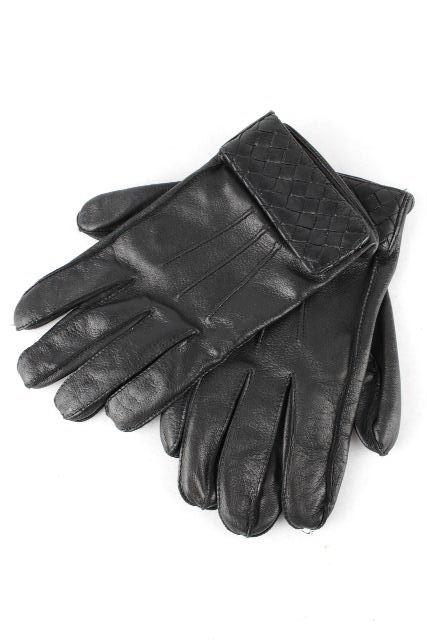 ボッテガヴェネタ [ BOTTEGAVENETA ] イントレチャート レザーグローブ ブラック 黒 SIZE[80] メンズ ボッテガベネタ ボッテガ イントレ 手袋