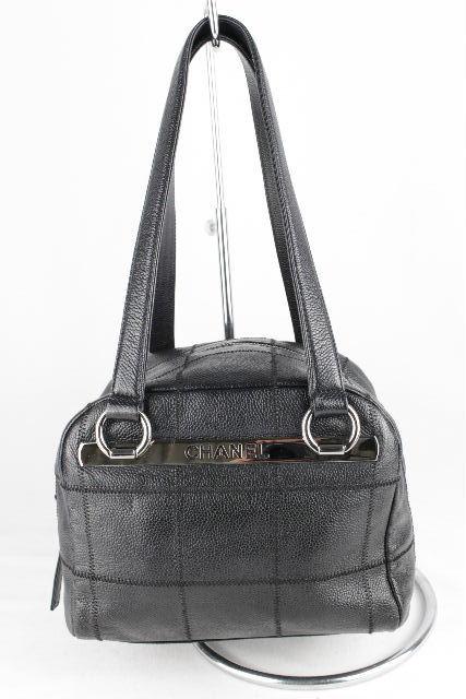 シャネル [ CHANEL ] キャビアスキン ミニボストンバッグ ブラック 黒 レディース ハンドバッグ ショルダーバッグ