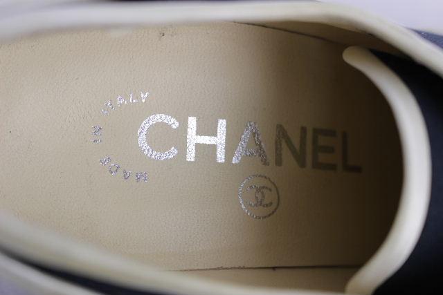 シャネル [ CHANEL ] ココマーク パール ウエッジパンプス ネイビー SIZE[37] レディース スニーカー パンプス