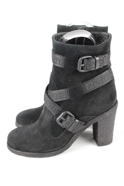 フェンディ [ FENDI ] ズッカ柄 ショートブーツ ブラック 黒 SIZE[35] レディース ブーツ エンジニア シューズ