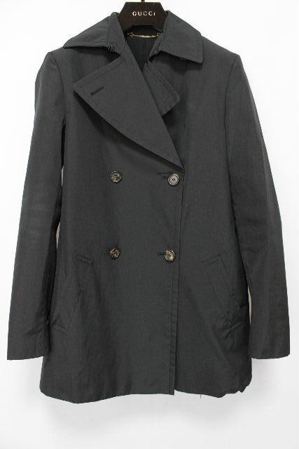 グッチ [ GUCCI ] ベルト トレンチコート ブラック 黒 SIZE[40] レディース アウター ジャケット