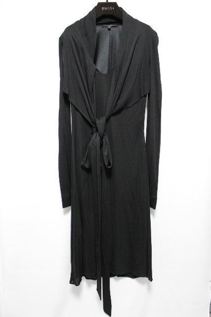グッチ [ GUCCI ] リボン ストレッチ ワンピース ブラック 黒 SIZE[40] レディース ドレス ワンピ