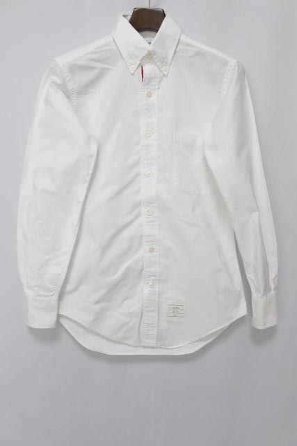 トムブラウン [ THOM BROWNE ] トリコロール ボタンダウン シャツ ホワイト 白 長袖 SIZE[0] メンズ トップス