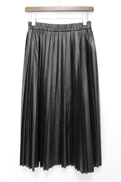 エポカ [ EPOCA ] フェイクレザー プリーツスカート ブラック 黒 SIZE[40] レディース ロングスカート フレアースカート