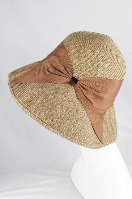 アシーナニューヨーク [ Athena New York ] リボン ストローハット ブラウン レディース アシーナ 折り畳み 麦わら帽子 ハット