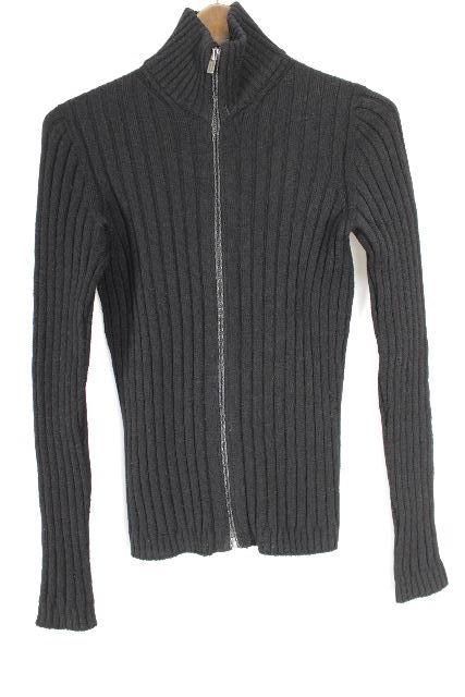 フェンディ [ FENDI ] ジップアップ ハイネック ニットセーター ブラック SIZE[40] レディース ジャケット カーディガン 長袖