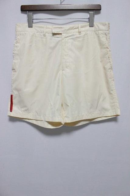 プラダスポーツ [ PRADA ] ナイロン系 ショートパンツ オフホワイト SIZE[48] メンズ プラダ ボトムス パンツ 短パン