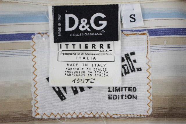 ドルチェ&ガッバーナ [ DOLCE&GABBANA ] バットマン ストライプ カジュアルシャツ 長袖 SIZE[S] メンズ D&G ドルガバ