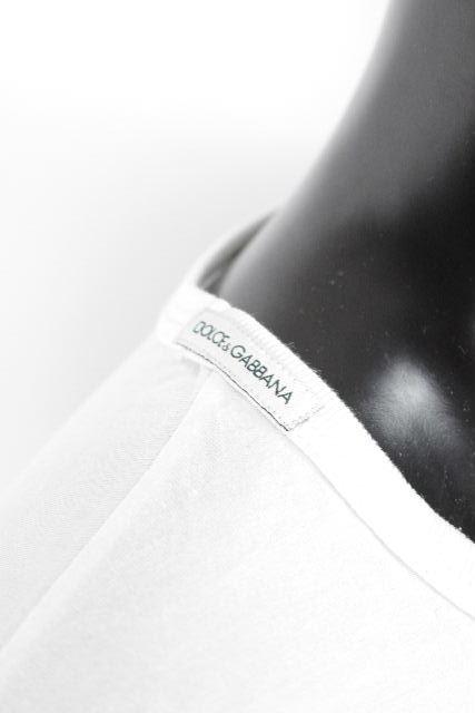 ドルチェ&ガッバーナ [ DOLCE&GABBANA ] カットソー ホワイト 白 長袖 SIZE[46] メンズ ドルガバ D&G ロンT ロングTシャツ