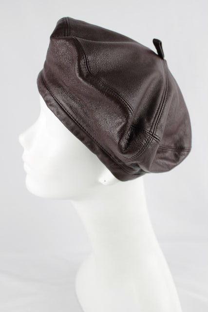 マックスマーラ [ MaxMara ] リアルレザー ベレー帽 ブラウン 茶色 レディース ハット 帽子