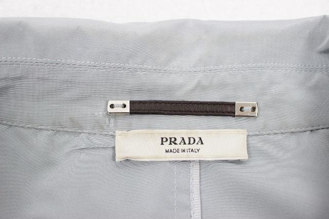 プラダ [ PRADA ] ベルト ナイロン スプリングコート PRADAブルー SIZE[00] レディース アウター トレンチコート