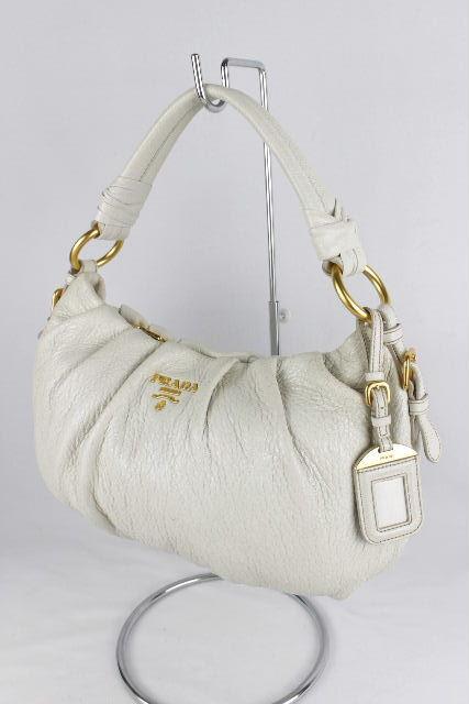 プラダ [ PRADA ] レザー ワンショルダーバッグ オフホワイト レディース ハンドバッグ ショルダーバッグ