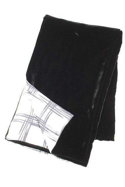 フェラガモ [ Ferragamo ] 大判 ベロア ショール ブラック チェック柄 [66×256cm] レディース ストール