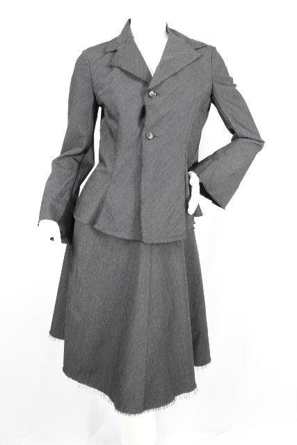 ギャルソン [ COMME des GARCONS ] ウール セットアップ スーツ グレー SIZE[M] レディース ジャケット スカート
