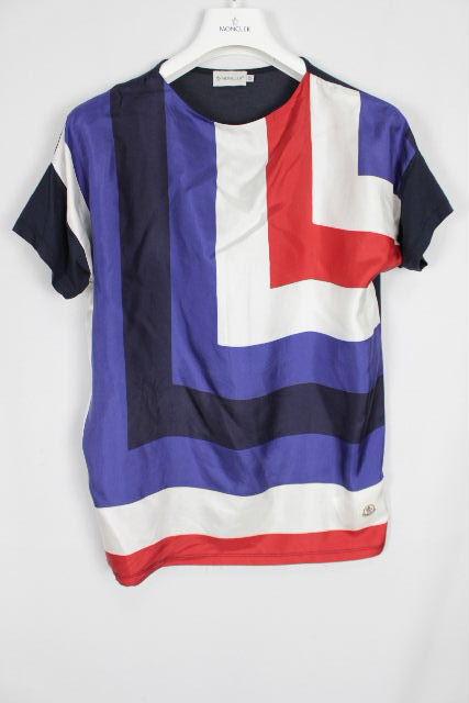 モンクレール [ MONCLER ] トリコロール ブラウス カットソー 半袖 SIZE[XS] レディース トップス シャツ Tシャツ