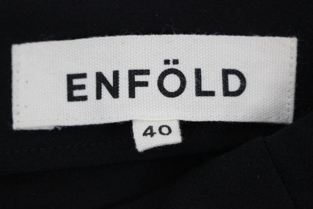 エンフォルド [ ENFOLD ] 2018 セットアップ ワンピース ブラック 黒 SIZE[38 40] レディース プルオーバー カットソー スカート