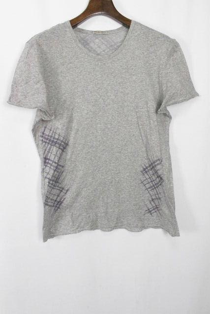 ボッテガヴェネタ [ BOTTEGAVENETA ] イントレチャート Tシャツ グレー 半袖 SIZE[48] メンズ ボッテガ べネタ イントレ カットソー