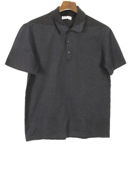 バレンシアガ [ BALENCIAGA ] バイカラー ポロシャツ ネイビー×ブラック 半袖SIZE[M相当] メンズ カットソー