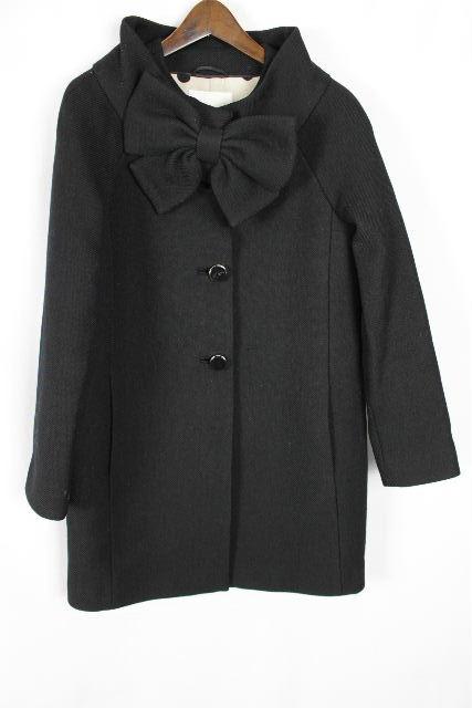 ケイトスペード [ katespade ] リボン コート ブラック 黒 SIZE[2] レディース ケイト アウター ウールコート